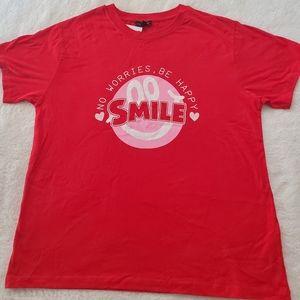 Topshop red Tshirt Sz 12